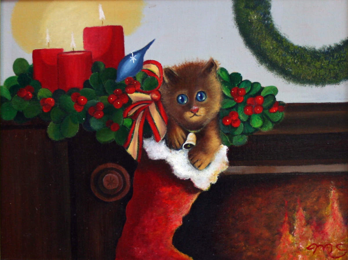 Christmas painting by Mark