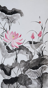 Pink Lotus by Nona Lightman